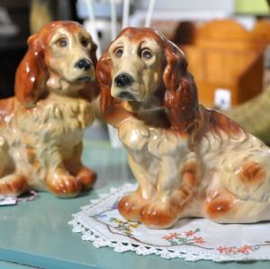 1930's Chalkware Spaniels